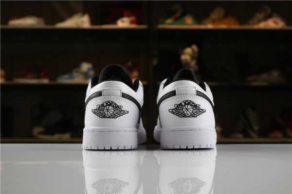 Men' s and Women' s Air Jordan 1 Low White Black 553560-103 For Sale
