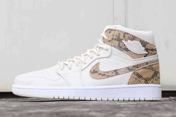 Air Jordan 1 Retro High Premium Pairs Snakeskin Phantom White AH7389-004