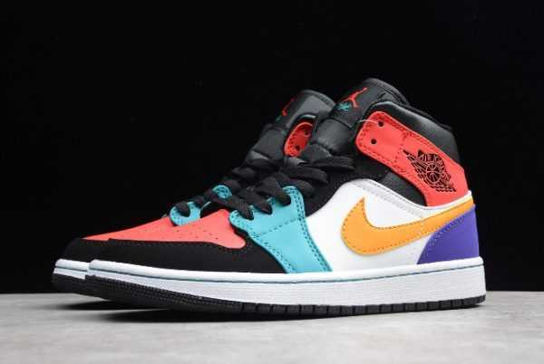 Men' s Air Jordan 1 Mid ' red' Multi-Color 554724-125