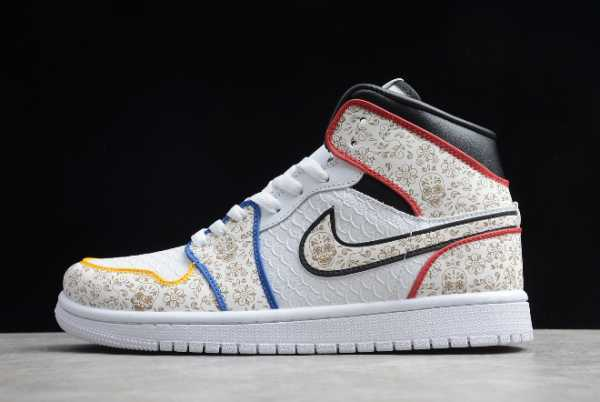 "BQ6827-100 Mens Air Jordan 1 Mid ""Day of the Dead"" 2020 For Sale"