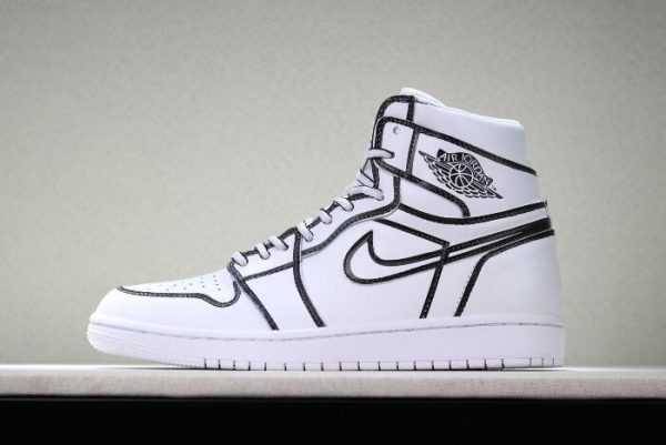 Nike Air Jordan 1 ' omic 3D Pencil' White Hand-Painted AA4724-110