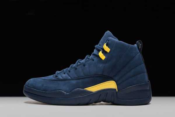 2018 PSNY x Air Jordan 12 ' ichigan' PE College Navy/Amarillo For Sale