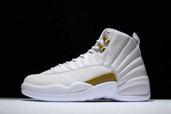 2018 New Air Jordan 12 OVO White/Metallic Gold-White For Sale