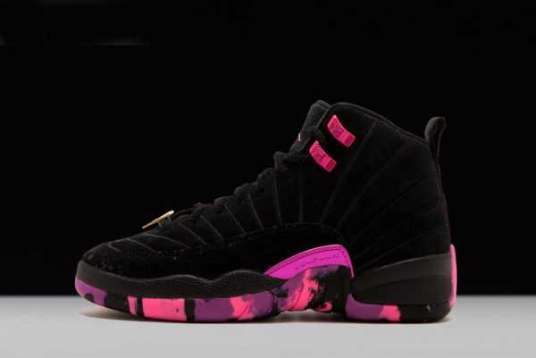 New Release Mens Air Jordan 12 ' oernbecher' Black/Hyper Violet-Pink Blast