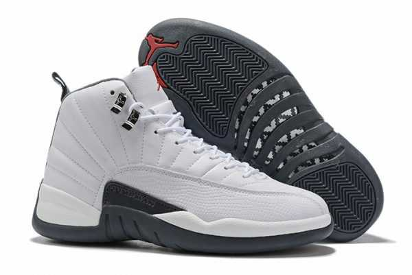 Air Jordan 12 ' ark Grey' White Gym Red For Sale