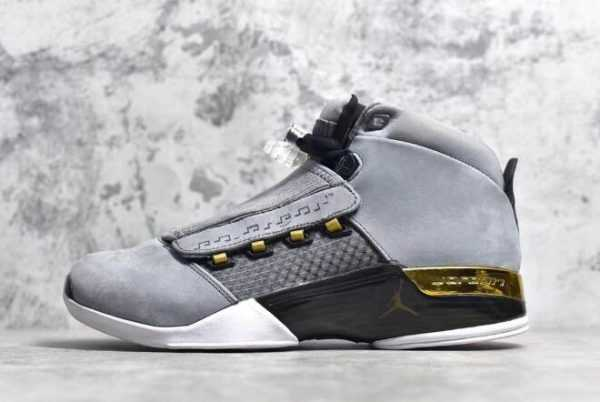 Air Jordan 17 Retro ' rophy Room' Cool Grey/Metallic Gold-Black AH7963-023