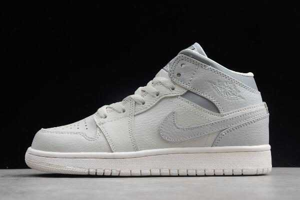 Air Jordan 1 Mid GS Light Bone/Grey Girls Size To Buy