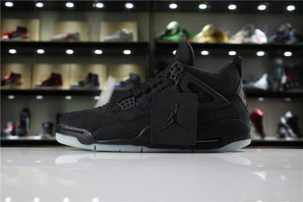 KAWS x Air Jordan 4 Retro Black/Black-Clear Glow 930155-001 Men' s Shoes