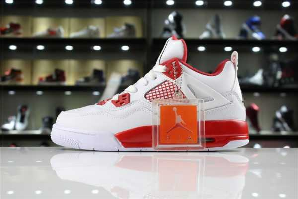 "New Air Jordan 4 Retro ""Alternate 89"" White/Black-Gym Red 308497-104"