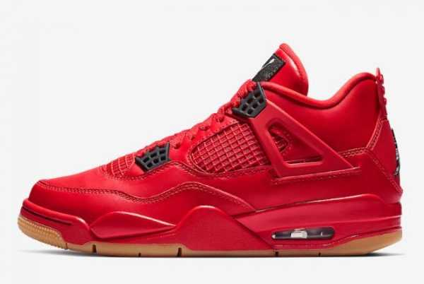 Newest Air Jordan 4 ' ingles Day' Fire Red/Summit White-Black AV3914-600