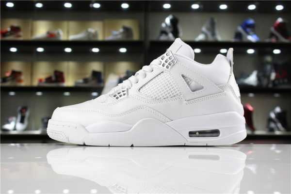 "Air Jordan 4 IV ""Pure Money"" White/Metallic Silver 308497-100"