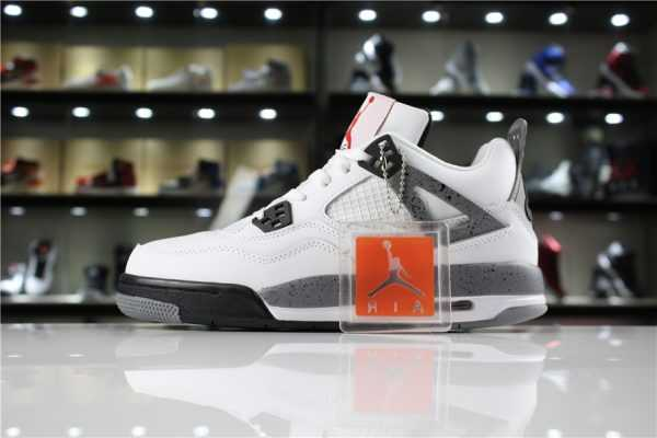 "Air Jordan 4 ' 89 OG ""White Cement"" White/Fire Red-Black-Tech Grey 840606-192"