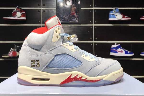 2019 Trophy Room x Air Jordan 5 Retro Ice Blue AJ5 CI1899-400 For Sale
