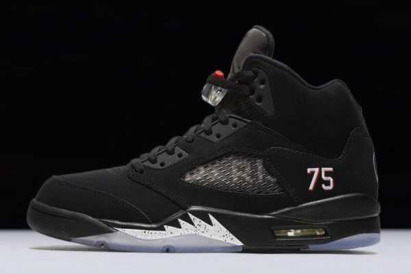2018 Air Jordan 5 ' aris Saint-Germain' Black/White-Challenge Red AV9175-001