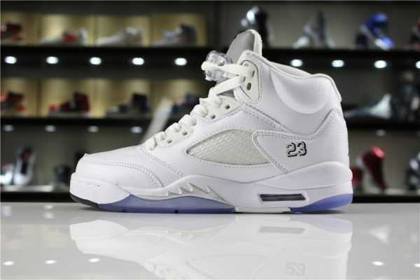 "Air Jordan 5 Retro ""Metallic Silver"" 136027-130 Mens and WMNS Shoes"