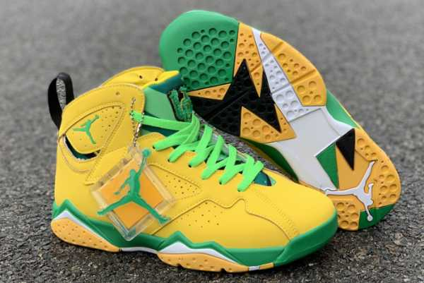 "2020 Air Jordan 7 ""Oregon Ducks"" PE For Sale"