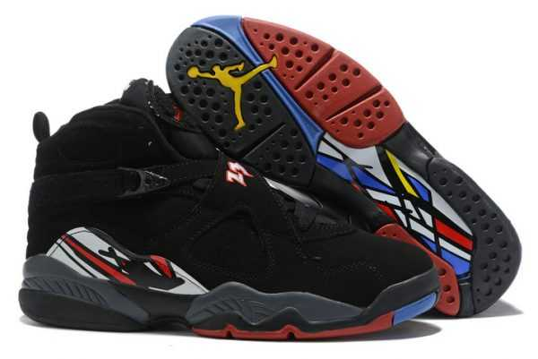 Mens Air Jordan 8 (VIII) Retro ' layoffs' Black/Varsity Red-White 305381-061