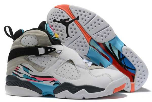 Air Jordan 8 Retro South Beach White Green For Sale 305381-113