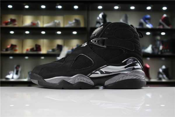 New Air Jordan 8 Retro Black Chrome 305381-001 For Sale