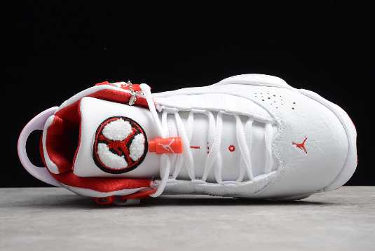 322992-103 Mens and WMNS Air Jordan 6 Rings WhiteRed For Sale