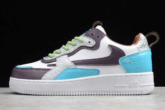 Nike Air Force 1 AC White/Peacock Blue-Purple To Buy