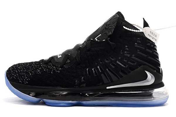 Nike LeBron 17 Black/Metallic Silver On Sale