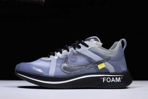 2018 Mens and Womens Off-White x Nike Zoom Fly SP Black/Grey-White