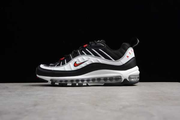 Men's Nike Air Max 98 OG 3M White/Black-Varsity Red 640744-109