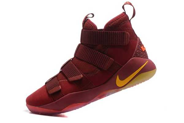 Nike LeBron Soldier 11 Cavs PE Wine Red/Gold Men's Basketball Shoes