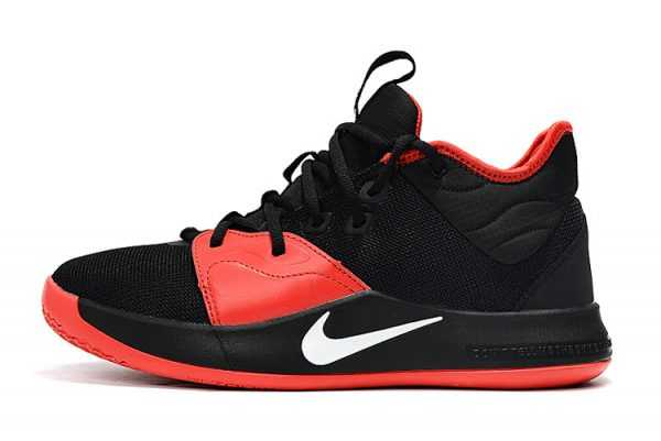 Nike PG 3 Black/Red-White Mens Shoes Sale