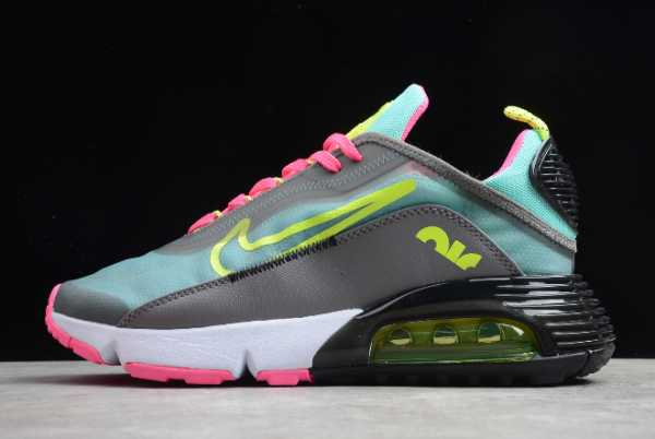CT7698-007 Nike Air Max 2090 Dark Grey/Magenta-Pink Green-Lemon 2020 For Sale