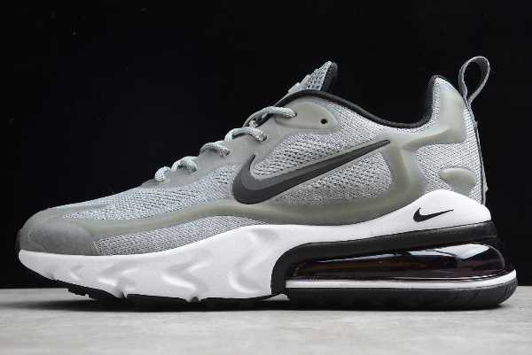 2020 Nike Air Max 270 React Light Grey/Black-White AO4971-104 For Sale