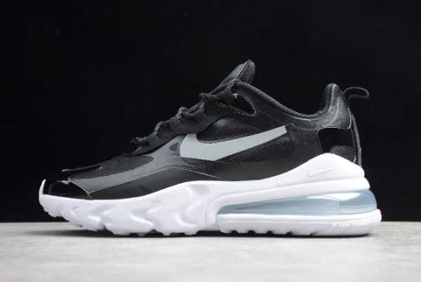 CT3426-001 Men's Size Nike Air Max 270 React Black/Metallic Silver 2020 For Sale