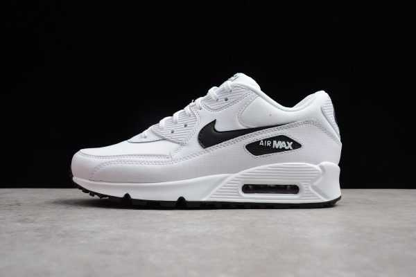 Nike Air Max 90 Essential White Black 325213-131 Men's Running Shoes