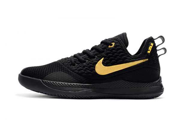 Nike LeBron Witness 3 Shoes Black Gold For Sale