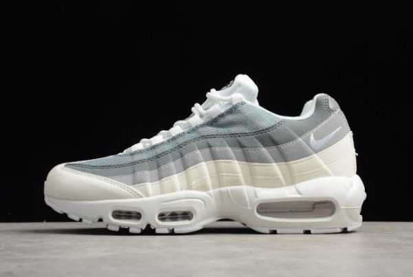 Nike Air Max 95 ID Cool Grey/Wolf Grey White Running Shoes For Sale