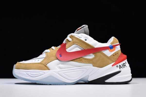 Off-White x Nike M2K Tekno White/Wheat-Red Dad AO3108-200 For Sale