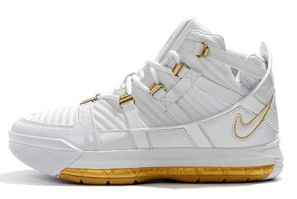 New Nike LeBron 3 White/Metallic Gold On Sale