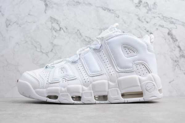 "Nike Air More Uptempo ""Triple White"" Men's and Women's Size 921948-100"