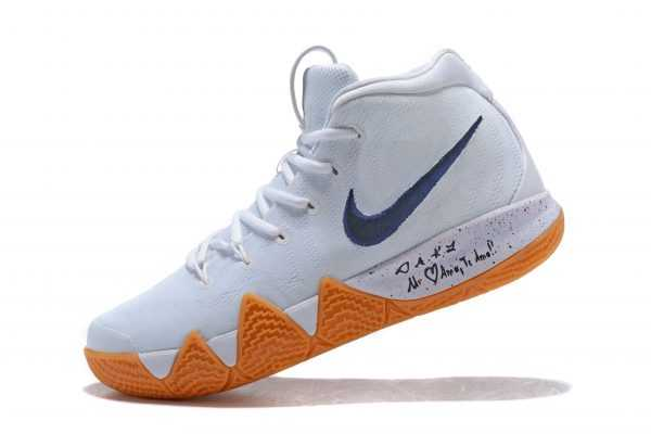 "Nike Kyrie 4 ""Uncle Drew"" White Gum Men's Basketball Shoes AQ8623-001"
