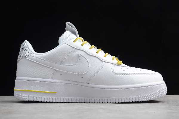 898889-104 Mens and WMNS Nike Air Force 1 '07 LX White Chrome Yellow For Sale