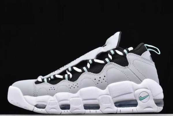 2018 Nike Air More Money Wolf Grey/Black-Island Green For Sale