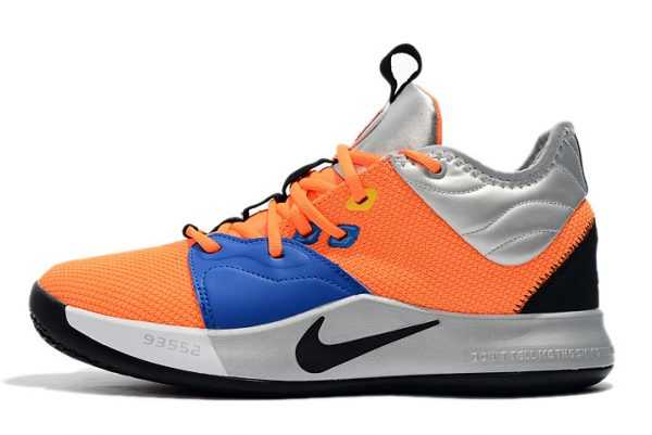 Mens Nike PG 3 Orange/Metallic Silver-Blue-Black On Sale
