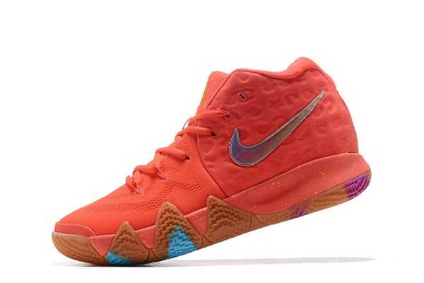 "2018 Men's Nike Kyrie 4 ""Lucky Charms"" Bright Crimson/Multicolor BV0428-600"