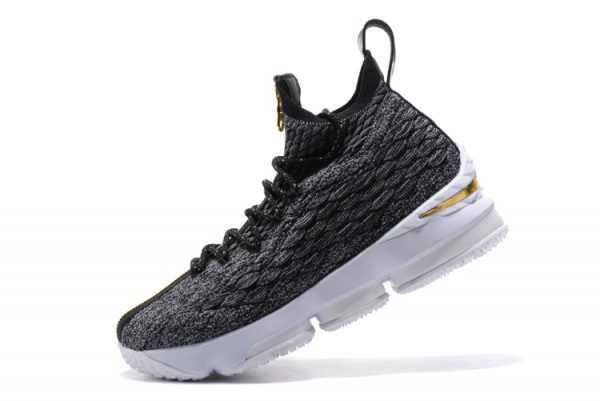 "KITH x Nike LeBron 15 ""SVSM"" Dark Green/Gold-White Men's Basketball Shoes"