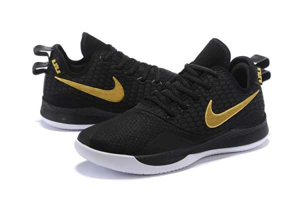 Nike LeBron Witness 3 Black/Metallic Gold Men's Basketball Shoes