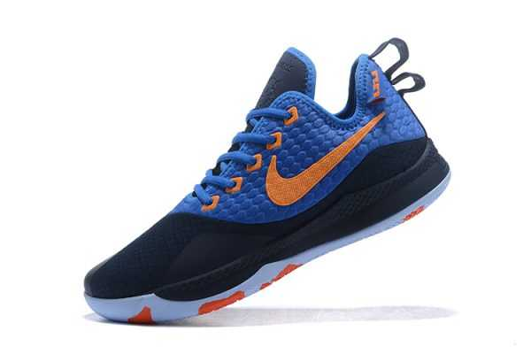 2018 Nike LeBron Witness 3 Navy/Royal Blue-Orange Sneakers