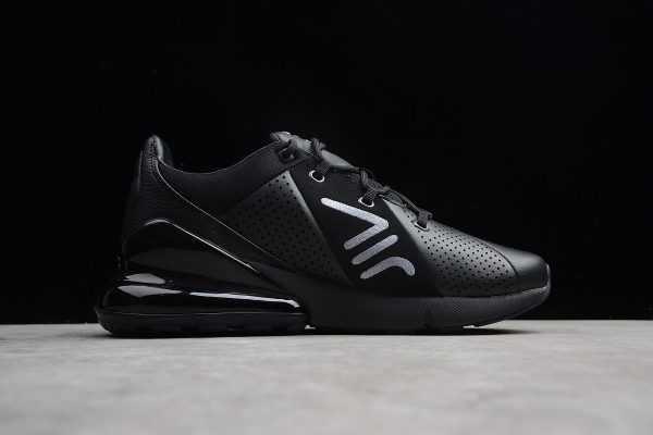 All Black Nike Air Max 270 Premium Leather On Sale AO8283-010