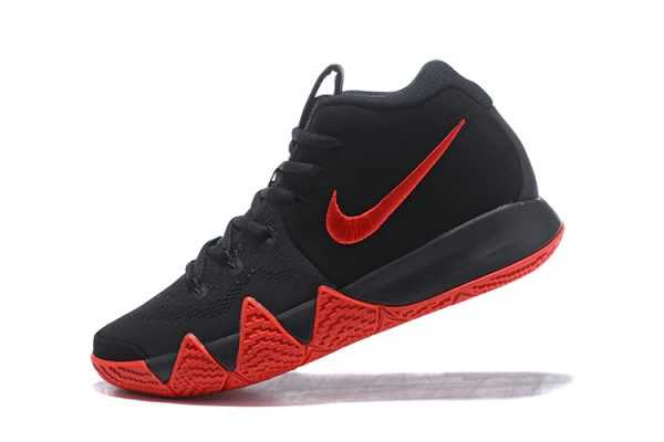 2018 Mens Nike Kyrie 4 Black Red On Sale