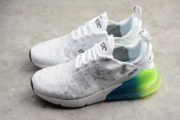 2018 Nike Max 270 White/Explosion Green/Blue-Pink BQ0742-998
